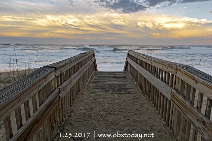 Enjoying the view at Raleigh Street Beach Access in Kill Devil Hills, NC