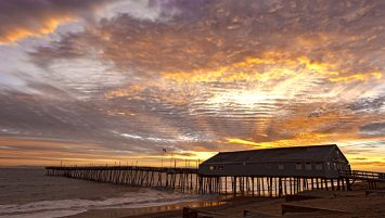 Winter sunrise at Avalon Pier