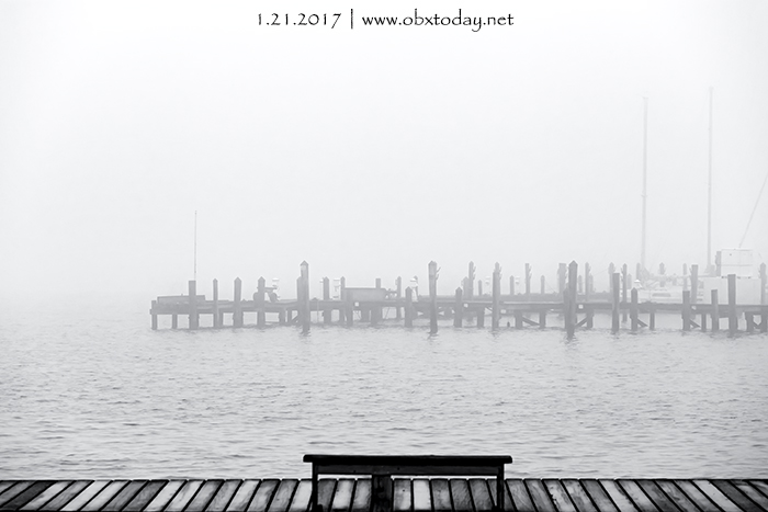 A view across Shallowbag Bay on a Foggy Day