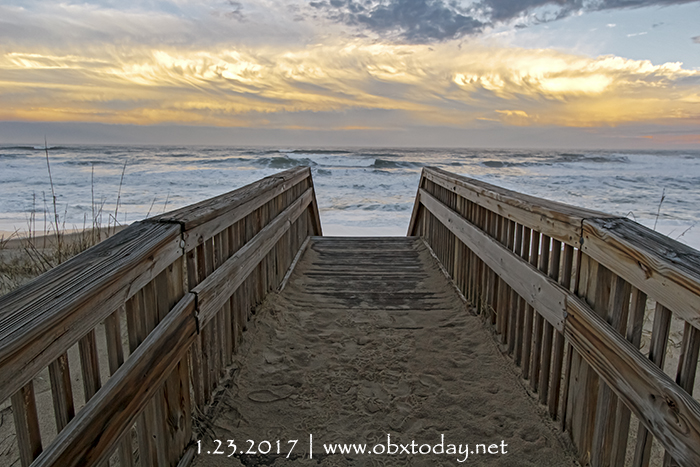 Enjoying the view at Raleigh Street Beach Access in Kill Devil Hills, NC