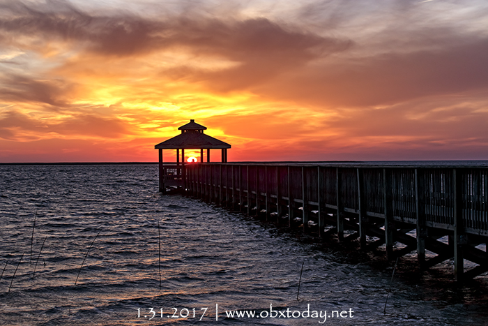 Final Outer banks Sunset of January 2017